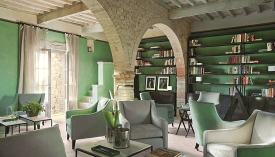 Castiglioncello del Trinoro, Italija: Villa Muri Antichi - Library