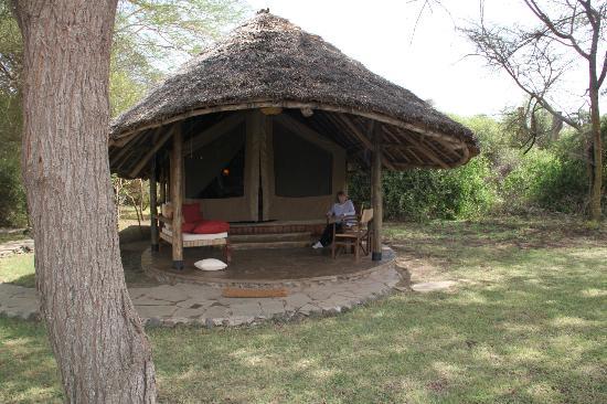 Tortilis Camp: Normal Tent setup