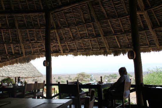 Tortilis Camp: view from the restaurant