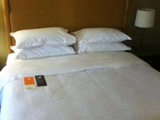 Sheraton Stamford Hotel: huge bed!