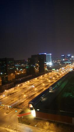 Pullman Beijing South: Looking out my window at night 2 15th  floor