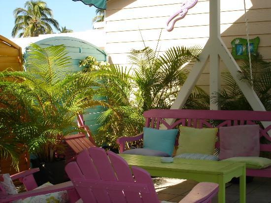 HOTEL DE LA PLAGE : Terrasse petit déjeuner