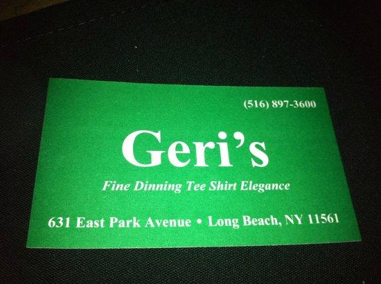 Geri's : Business Card