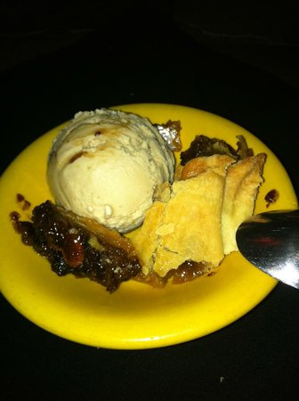 Geri's : Home made butter pecan ice cream and pecan pie.