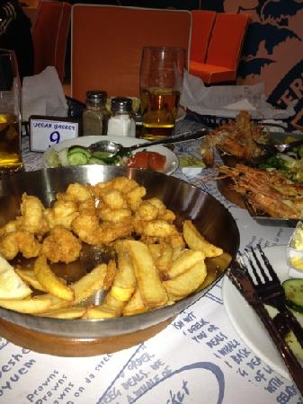 Ocean Basket - My Mall : scampi and chips, yum my favourite