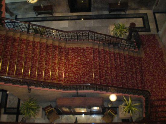 The Taj Mahal Palace: The grand staircase -- beautiful