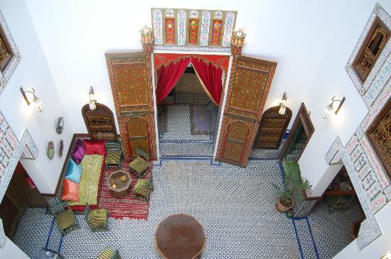 Palais de fes Dar Tazi : Il cortile interno della dependance dell'hotel