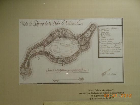 Mezcala Island: Map of the island