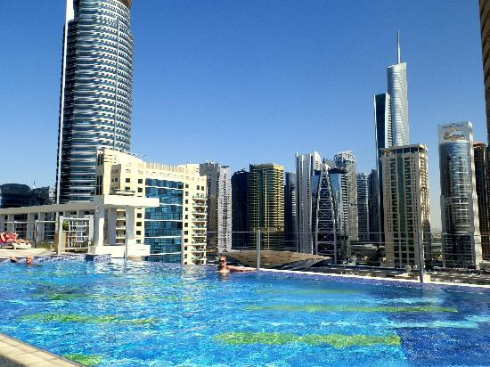 Pool On The Roof Picture Of Marina Byblos Hotel Dubai