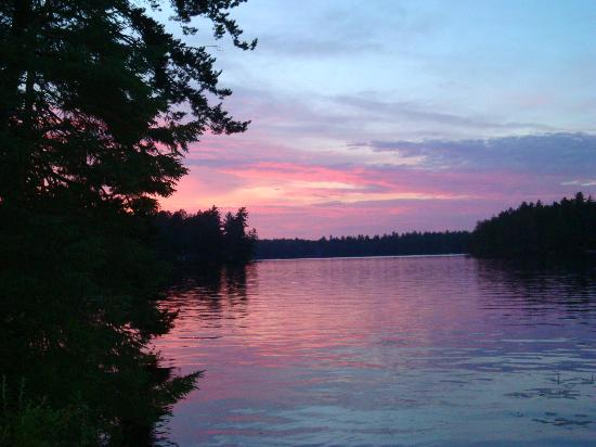 Fish Creek Pond Campground: Sunset over Fish Creek Ponds