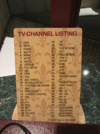 Inn of the Dove - Bensalem: TV Channel Listings - last four not for the faint of heart