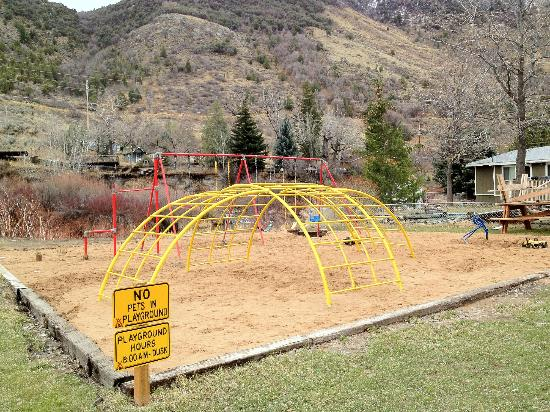 Lava Hot Springs KOA: play area for kids