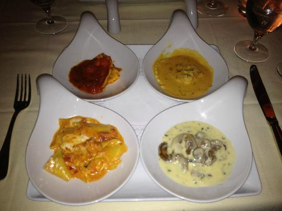 Salute : Pasta sampler plate