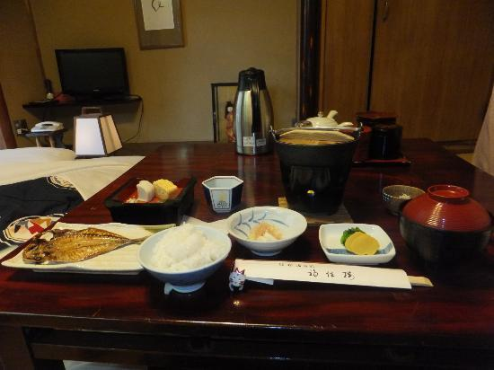 Fukuzumiro Ryokan: A good spread for breakfast!