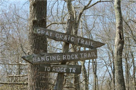 Norman Bird Sanctuary: Sign for the Trails along the way