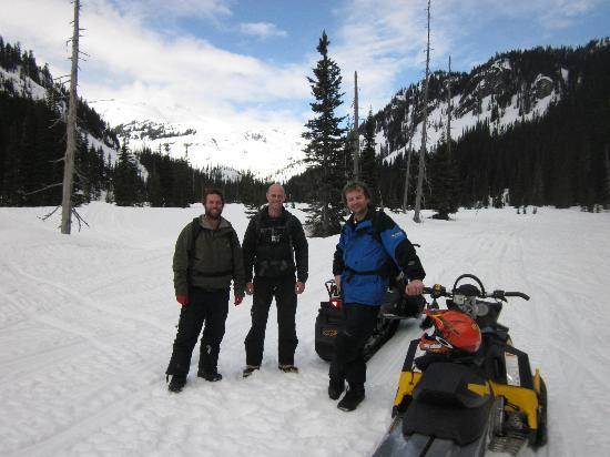 Totally Awesome Adventures: Alex, Martin and Peter before we headed up on to the Pemberton Ice Cap