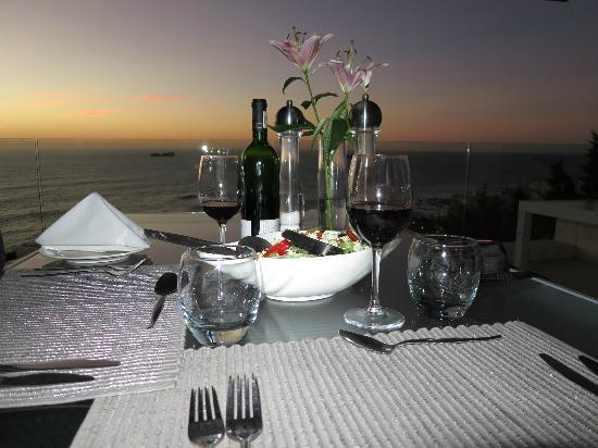 The Clarendon Bantry Bay: A set up dinner in the Clarendon's terrace