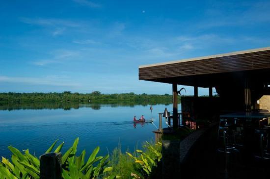 Starfish Cove: The bar and lagoon