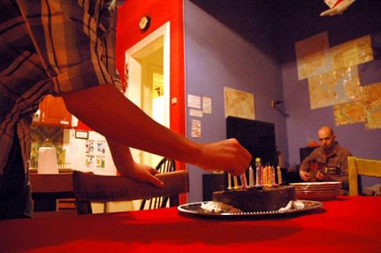 Big Fish Budapest Hostel: Happy Birthday cake we will never forget! :)