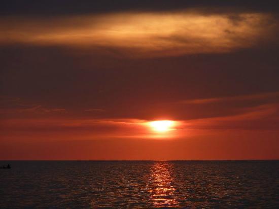 Mango Bay Resort: zonsondergang, afsluiting van een perfecte dag