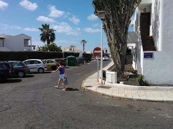 Side street of Maribel Apartments