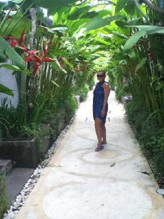 Kori Ubud Resort & Spa: walk way from reception or pool area to the rooms