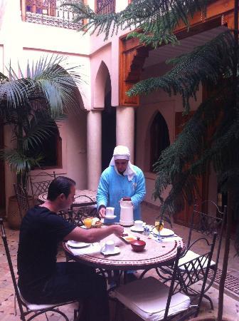 Riad Awinati: desayuno