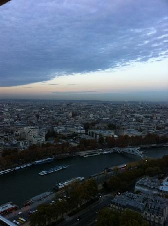Paris seen from the Eiffel tower's second level