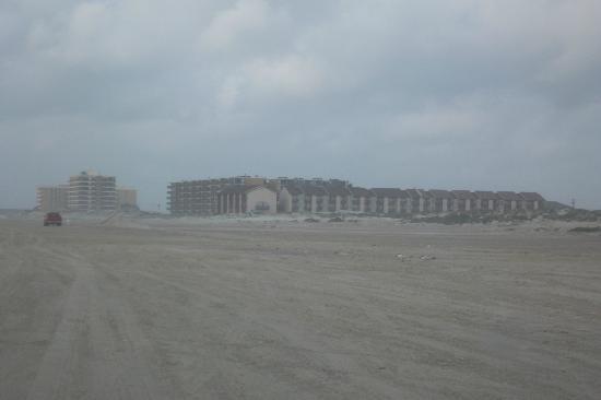 El Constante Beachfront Condominiums: View from beach, of condos