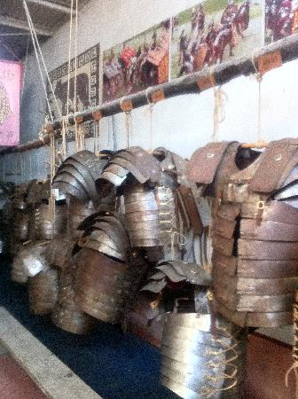 """Exclusive Rome Tour - Tours: Roman Armours at the """"School of Gladiators"""" on the Appian Way"""