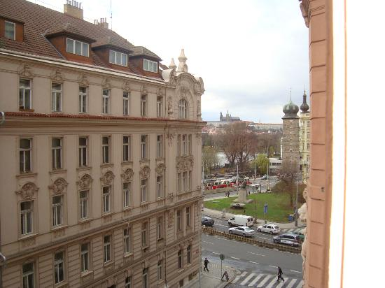 Hotel Merlin: we could see Hradčany from our window