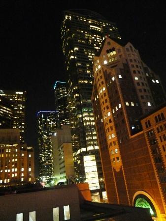 Hilton Checkers Los Angeles: Ausblick aus unserem Zimmer