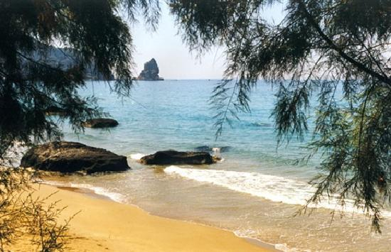 The Pink Palace: One of  our beach secluded bays