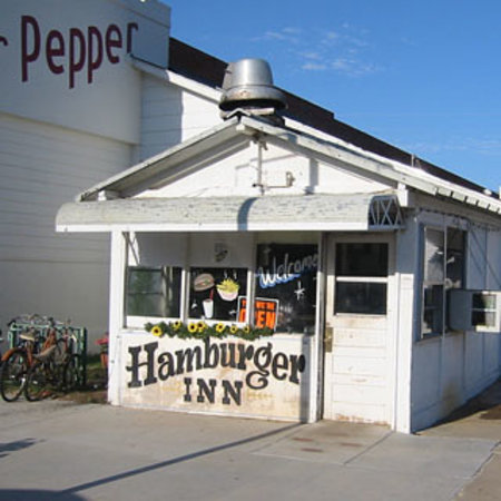 Hamburger Inn: The original location...this is west of the new building.