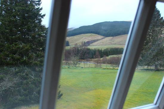 tilt out windows casement dalmunzie castle windows tilt out to the rolling hills picture of castle