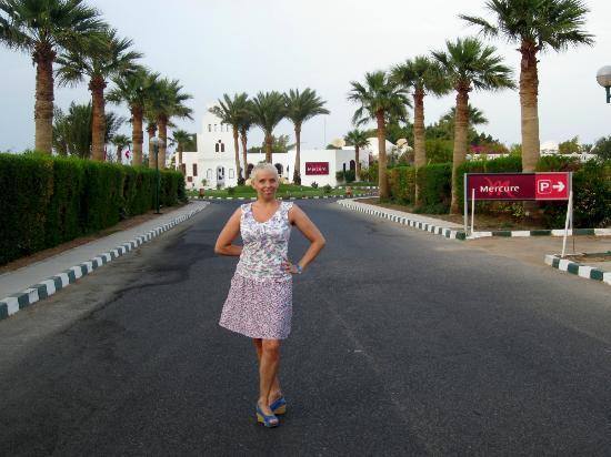Mercure Hurghada Hotel: пальмы парами...