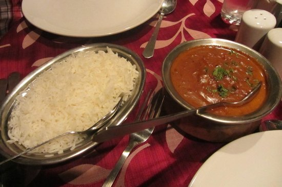OCTIMA RESTAURANT + BAR:                                     Chicken Tikka Masala and Steamed Rice
