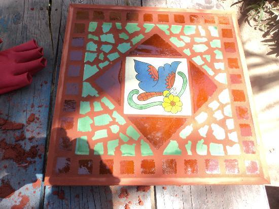 The Bucerias Art Walk: mosaic finished