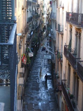 Hotel Espana: This is the view down the street from our room