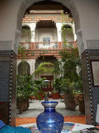 Vue de l'intérieur du magnifique Riad Al Bartal...
