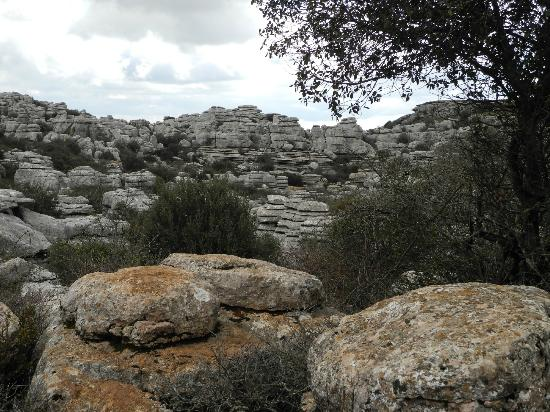 Antequera, España: Along the road to the El Torcal Visiters Center