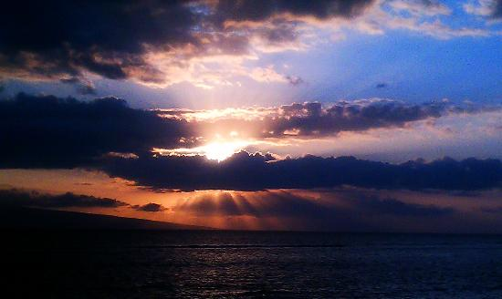 Marriott's Maui Ocean Club  - Lahaina & Napili Towers: You'll see awesome sunsets like this.