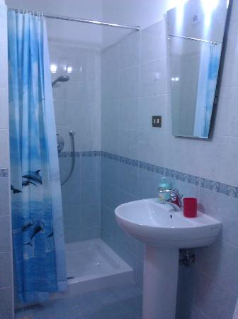 El Paraiso Bed and Breakfast: Sparkling clean shower and sink in en-suite bathroom