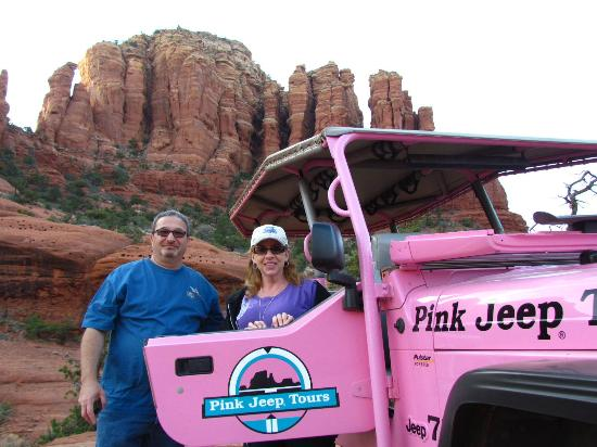 Pink Jeep Tours Sedona: We are on the top of submarine rock here