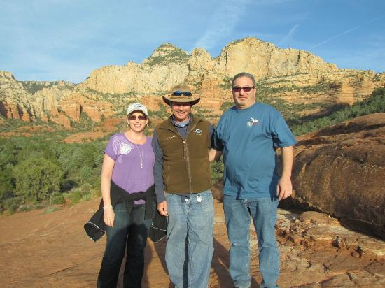 Pink Jeep Tours Sedona: With our tour guide, David