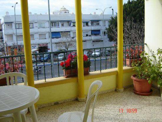 Hostal Azahara: View from our balcony