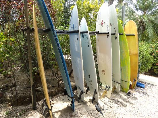 Hotel Casa Romantica: Surboard Rack