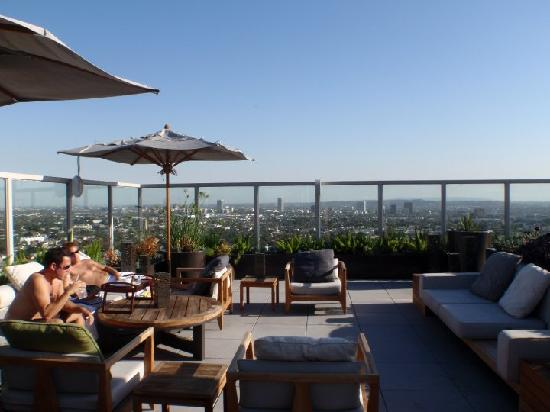 Rooftop view - Picture of Andaz West Hollywood, West ... Drew Barrymore Hotel
