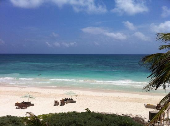 Nueva Vida de Ramiro: Beautiful beach out front of Extasis