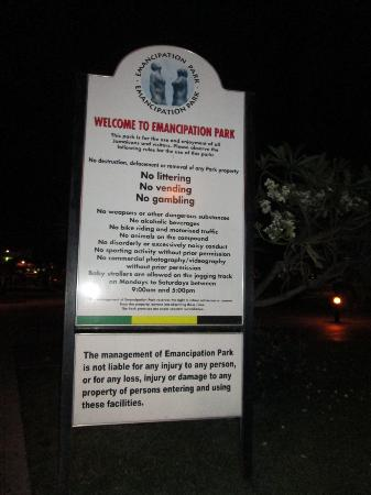 Welcome to Emancipation Park